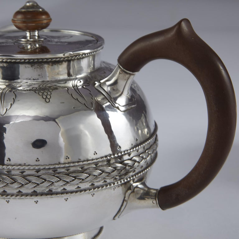 English 4-Piece Silver Tea and Coffee Set by Liberty For Sale