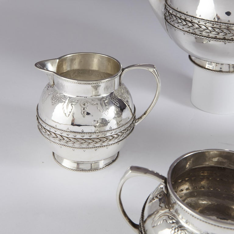 20th Century 4-Piece Silver Tea and Coffee Set by Liberty For Sale