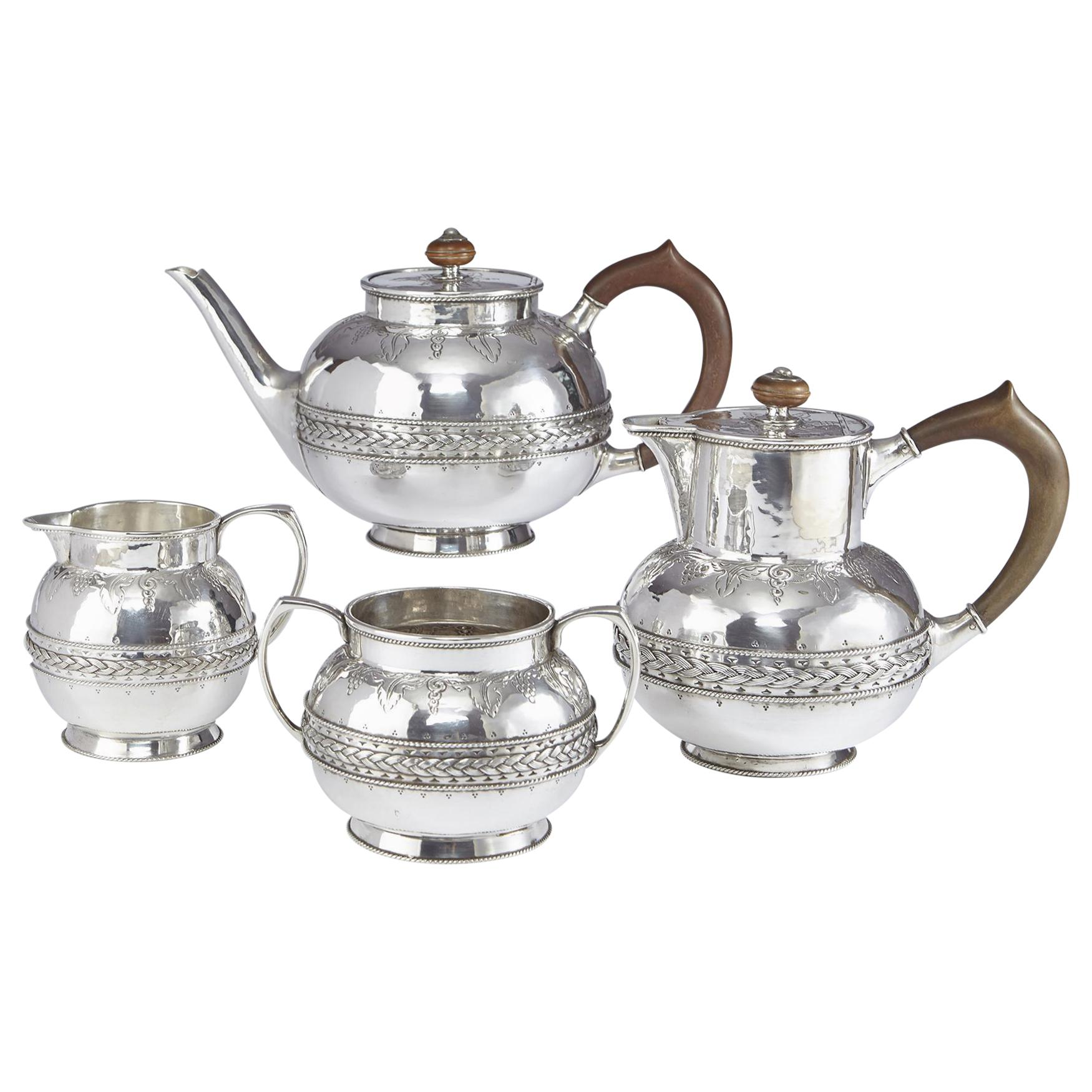 4-Piece Silver Tea and Coffee Set by Liberty