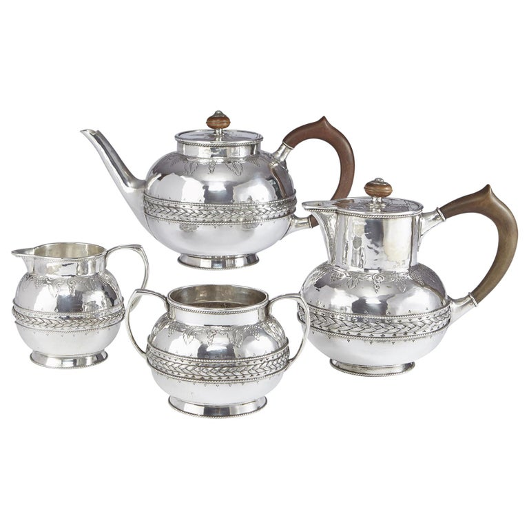 4-Piece Silver Tea and Coffee Set by Liberty For Sale