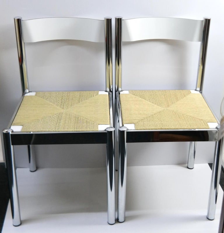 4-Piece Suite Italian Modern Chairs, Formenti e Giovenzana, Italy, 1960s For Sale 8