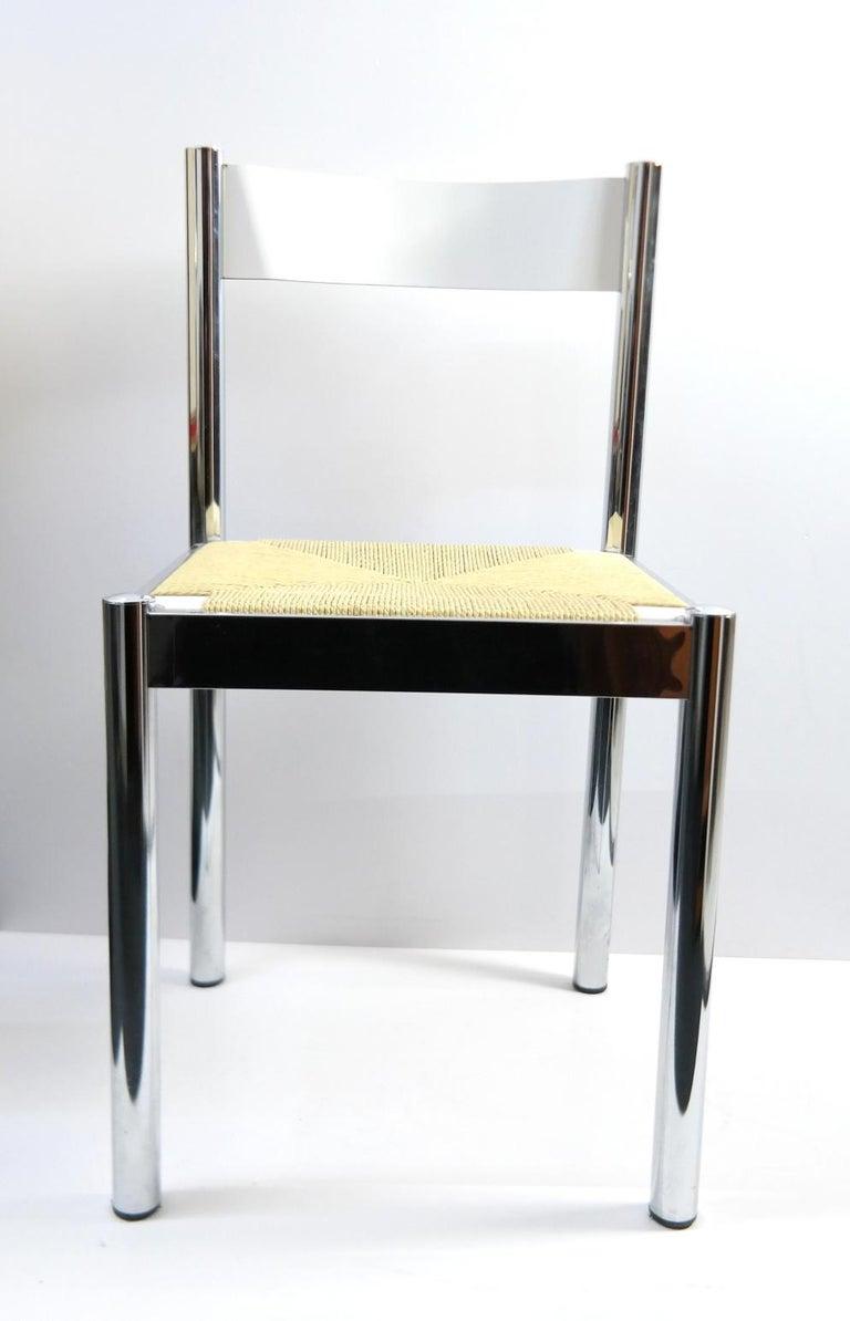 4-piece suite Italian modern chairs, Formenti e Giovenzana, Modello Depositato, Italy, 1960s.