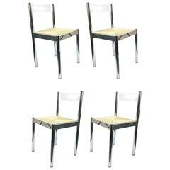 4-Piece Suite Italian Modern Chairs, Formenti e Giovenzana, Italy, 1960s