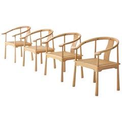 4 Richard Nissen Yin Chairs, Denmark, 1960s