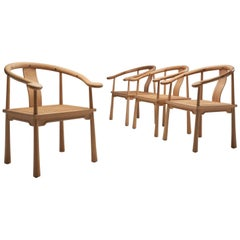 4 Richard Nissen Yin Chairs, Denmark, 1960s