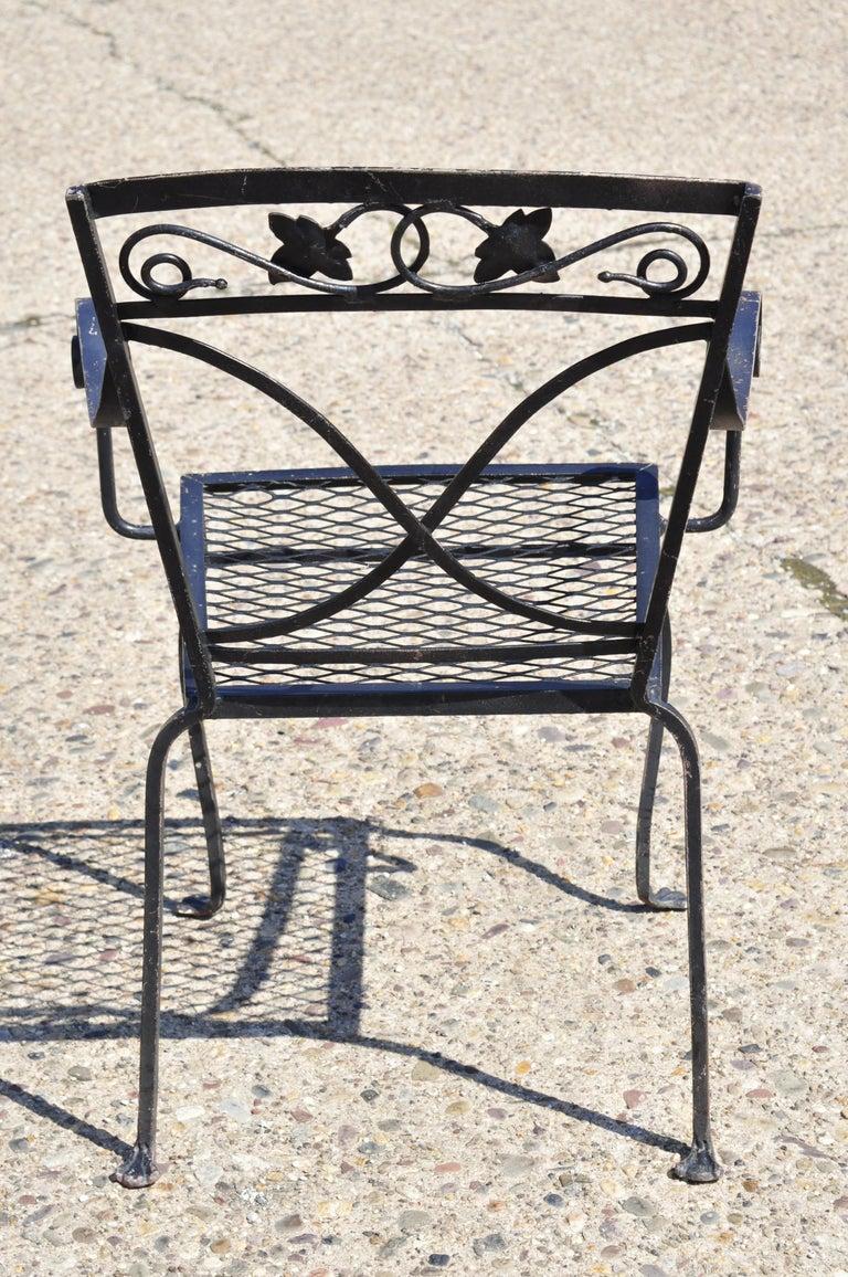 Salterini Patio Furniture Parts: 4 Salterini Mt. Vernon Maple Leaf Stacking Garden Patio