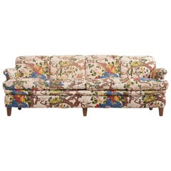 4-Seat Sofa with Floral Fabric by Josef Frank for Svenskt Tenn, 1950s