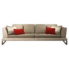 4-Seater Beige Sofa