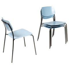 Arik Levy Blue,  Felber C18 Indoor/Outdoor chairs by Dietiker , Set of 4