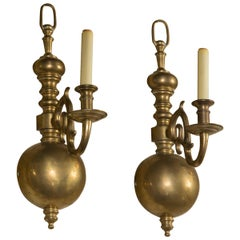 4 Single Light Brass Scones