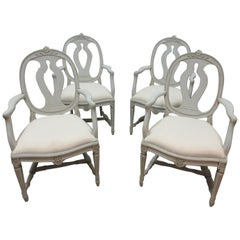 Set of 4 Swedish Gustavian Armchairs