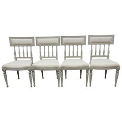 4 Swedish Gustavian Side Chairs