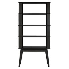 4-Tier Bookshelf/Storage, Ashwood with Black Stain by Debra Folz