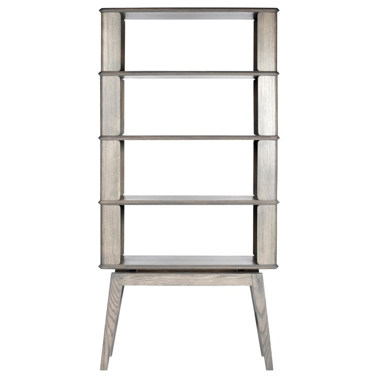 4-Tier Bookshelf/Storage, Ashwood with Gray Stain by Debra Folz For Sale
