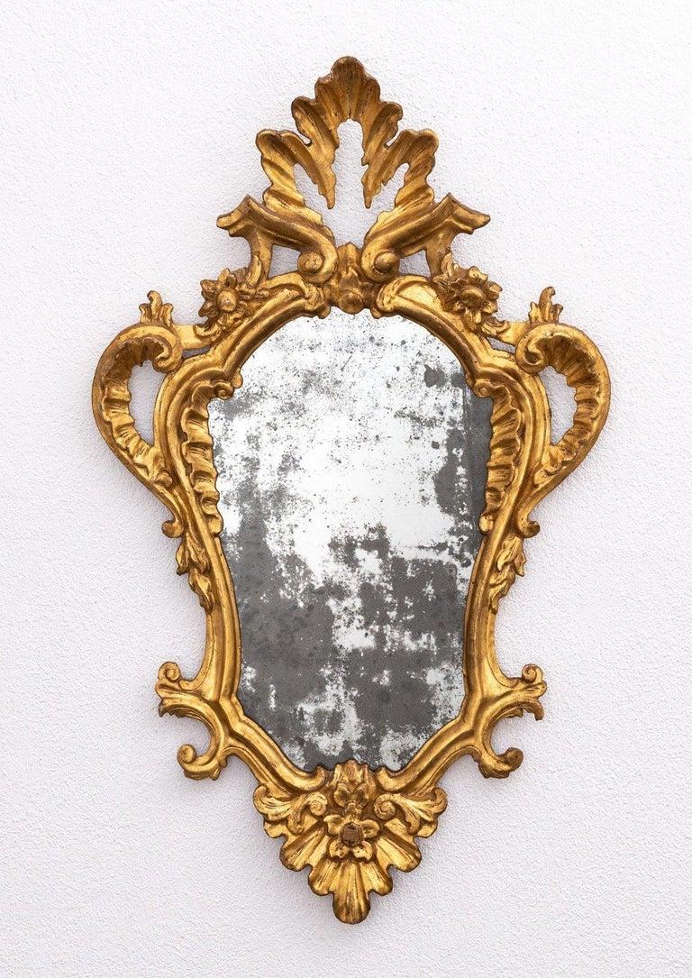 Italian 4 Tuscan Giltwood Mirrors For Sale