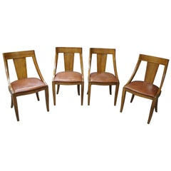 4 Union National Midcentury Parma Fruitwood Italian Provincial Chairs French Em