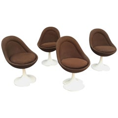4 Vintage Chairs circa 1970 in the Style of Pierre Paulin