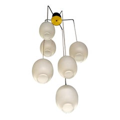 4 Vintage Chandeliers by Phillips from a Modernist Church, Netherlands, 1960's