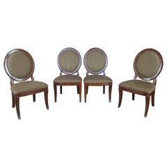 4 Vintage Drexel Heritage Louis XVI Wheelback Savoy Side Dining Chairs 689-751