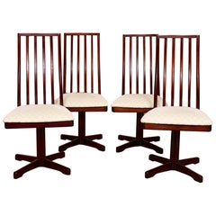 4 Vintage McIntosh Dining Chairs Rosewood, Set of 4, 1970s