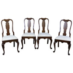 4 Vintage Pennsylvania House Traditional Queen Anne Cherry Dining Chairs 11-3109
