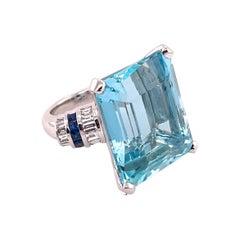40+ Carat Aquamarine Ring