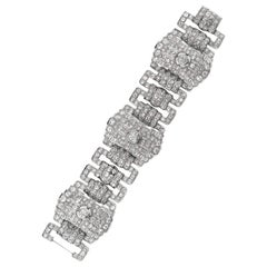 40 Carat Diamond and Platinum Bracelet