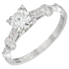 .40 Carat Diamond Art Deco Platinum Engagement Ring