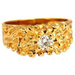 .40 Carat Diamond Nugget Men's Ring 18 Karat