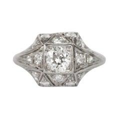 0,40 Karat Diamant Platin-Verlobungsring