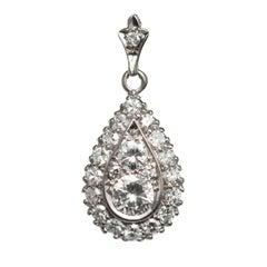 .40 Carat Diamond White Gold Pendant