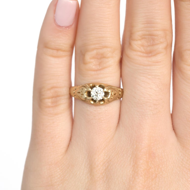 .40 Carat Diamond Yellow Gold Engagement Ring For Sale At