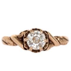 .40 Carat Diamond Yellow Gold Engagement Ring