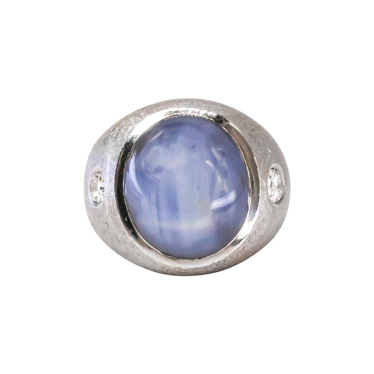40+ Carat Double Star Sapphire Ring For Sale