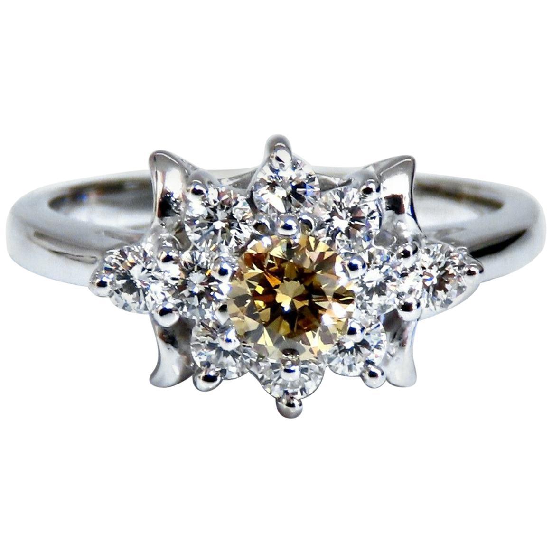 .40 Carat Natural Fancy Color Yellow Brown Diamond Ring 14 Karat