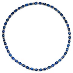40 Carat Sapphire and Diamond Necklace