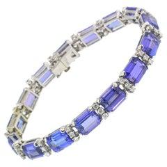 40 Carat Tanzanite 14 Karat Bracelet Sold by Tiffany & Co. 'Includes Provenance'