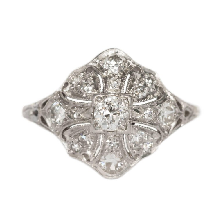 .40 Carat Total Weight Diamond Platinum Engagement Ring