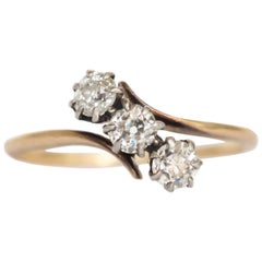 .40 Carat Total Weight Diamond Yellow Gold Engagement Ring
