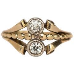 .40 Carat Total Weight Diamond Yellow Gold Engagement Ring