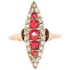 .40 Carat Total Weight Ruby Yellow Gold Engagement Ring