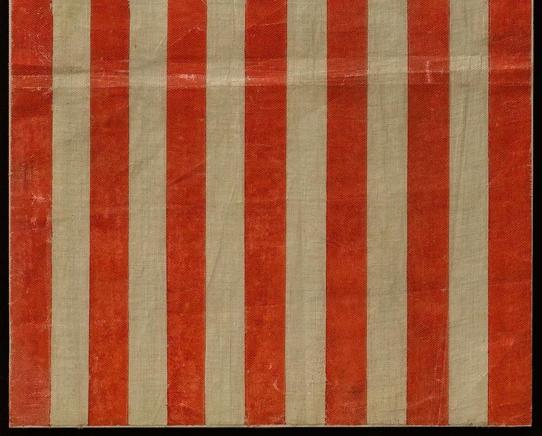 American 40-Star Antique Parade Flag Printed on Muslin, circa 1889 For Sale
