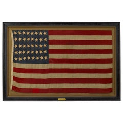 "40-Star ""Unofficial"" Whimsical Star Pattern American Flag, circa 1889"