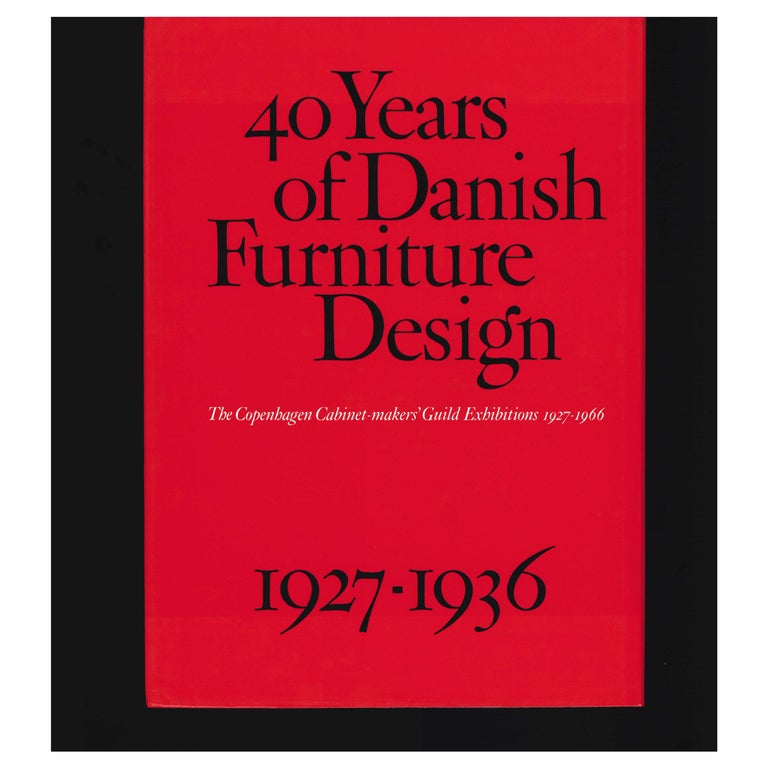 40 Years of Danish Furniture Design 1927-1966, Set of 4 Books For Sale