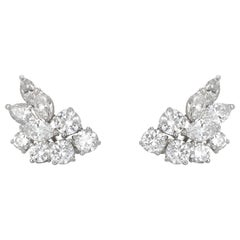 4.00 Carat Diamond Cluster Earrings