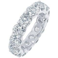 4.00 Carat Diamond Eternity Ring Low Setting