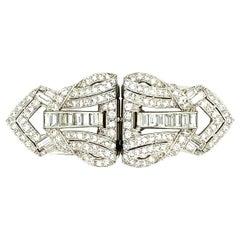 4.00 Ct Platinum Diamond Brooch