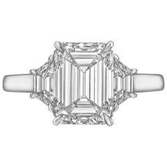 4.01 Carat Emerald-Cut Diamond Ring 'F/VS2'