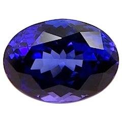 4.01 Carat Tanzanite Oval, Unset Loose 3-Stone Engagement Ring Pendant Gemstone