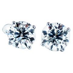 4.03 Carat Diamond Stud Earrings